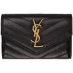 Black & Gold Small Monogramme Envelope Wallet