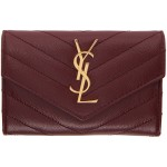 Burgundy Small Monogramme Envelope Wallet