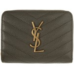 Grey Small Compact Monogramme Wallet