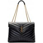 Black Medium Loulou Bag