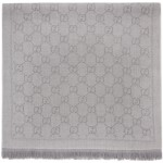 Grey Jacquard Wool GG Scarf