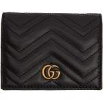 Black GG Marmont Card Case Wallet
