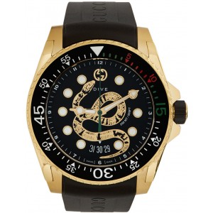Gold Dive Snake Watch