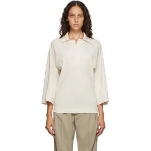 Off-White Three-Quarter Sleeve Polo
