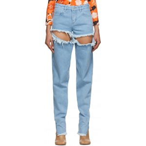 Blue Ripped Hip Jeans