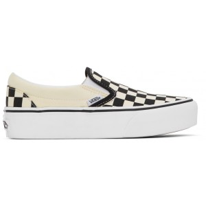 Black & White OG Classic Slip-On Platform Sneakers