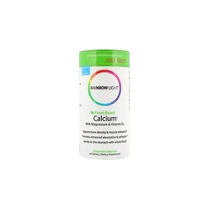 Rainbow Light Food-Based Calcium With Magnesium & Vitamin D3 90 Tablets