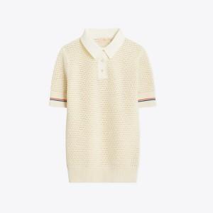 Mesh Polo Sweater