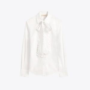 Scalloped Cotton Shirt