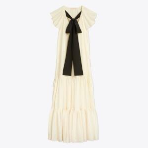 Textured Georgette Maxi Dress