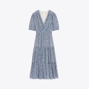Printed Cotton-Silk Dress