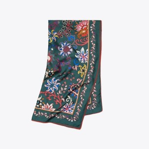 BLACK MOUNTAIN FLORAL SILK SQUARE SCARF