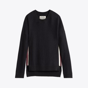 DOUBLE-STRIPE LIGHTWEIGHT DROPTAIL PULLOVER