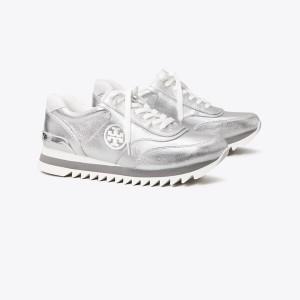 Sawtooth Metallic Sneaker