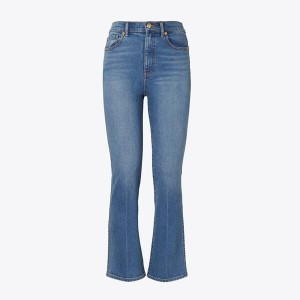 CROPPED BOOT-CUT MARBLE JEAN