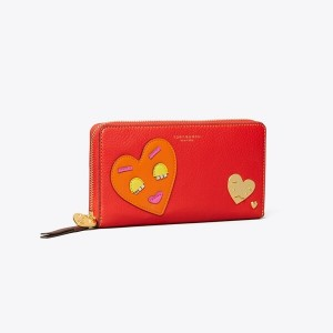 PERRY PATCHWORK HEARTS ZIP CONTINENTAL WALLET