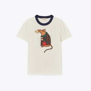 YEAR OF THE RAT APPLIQUE T-SHIRT