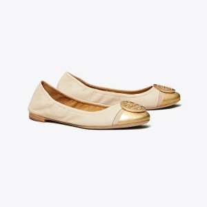 MINNIE METALLIC CAP-TOE BALLET FLAT