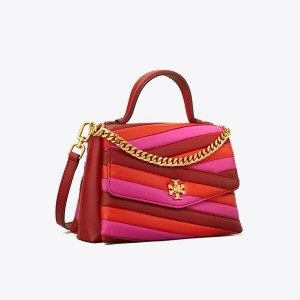 KIRA CHEVRON COLOR-BLOCK TOP-HANDLE SATCHEL