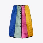 Color-Block Quilted Skirt