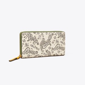 Perry Printed Zip Continental Wallet