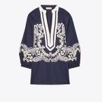 Embellished Puffed-Sleeve Tunic