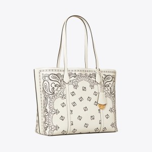 Perry Printed Triple-Compartment Tote Bag