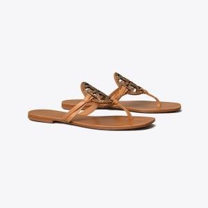Miller Square-Toe Crystal Sandal