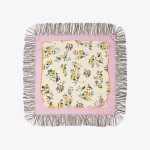 Porcelain Floral Silk Square Scarf