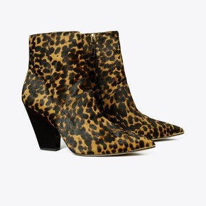 Lila Calf Hair Zip-Up Ankle Bootie