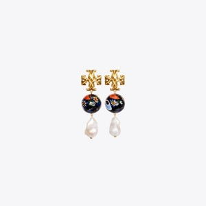 Roxanne Ceramic Pearl Drop Earring