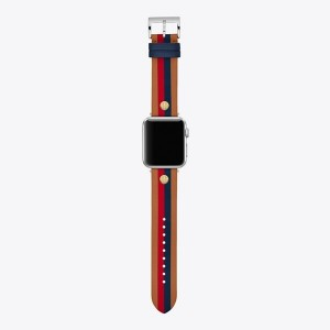 SEASONAL STRIPES BAND FOR APPLE WATCH®, MULTICOLOR LEATHER, 38 MM  40 MM