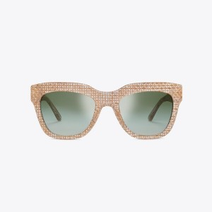 RAFFIA SQUARE SUNGLASSES