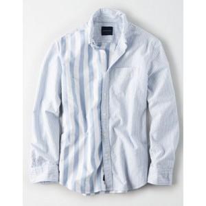 AE Color Block Oxford Shirt