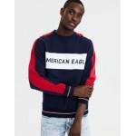 AE Color Block Fleece Crew Neck Sweatshirt