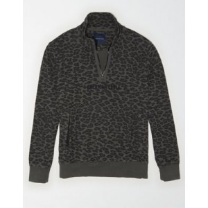 AE Fleece Graphic Quarter-Zip Pullover Sweatshirt