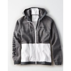 AE Color Block Zip-Up Hoodie