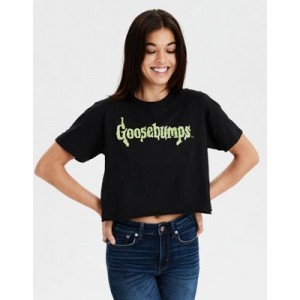 AE Halloween Cropped Graphic T-Shirt
