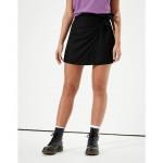 AE High-Waisted Plaid Wrap Mini Skirt