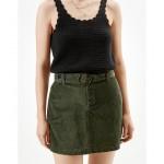 AE Corduroy Belted Mini Skirt