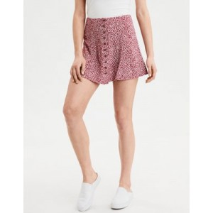 AE Button Down Mini Skirt