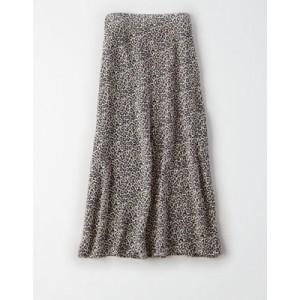 AE Animal Print Midi Skirt