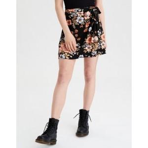 AE High-Waisted Tie Wrap Mini Skirt