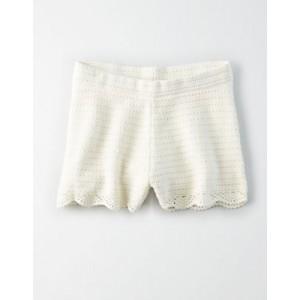 AE High-Waisted Crochet Shorts