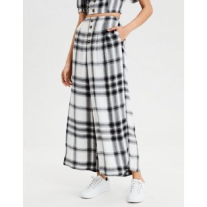 AE Button Front Wide Leg Pant