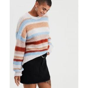 AE Multi-Stripe Pullover Sweater