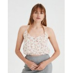 AE Floral Print Bubble Halter Top