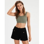 AE Seamless Ribbed Crop Tank