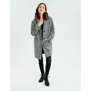 AE Plaid Button Front Jacket