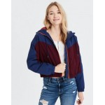 AE Color Block Sherpa Lined Puffer Jacket